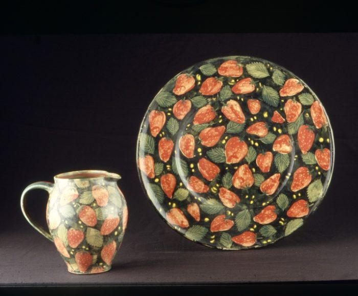 Jug & Plate, strawberry design 1987