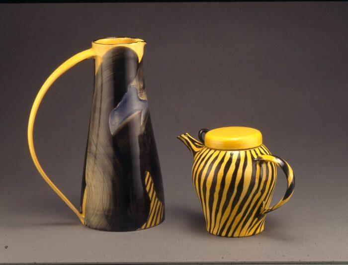Tall jug & teapot (Landscape) 1996