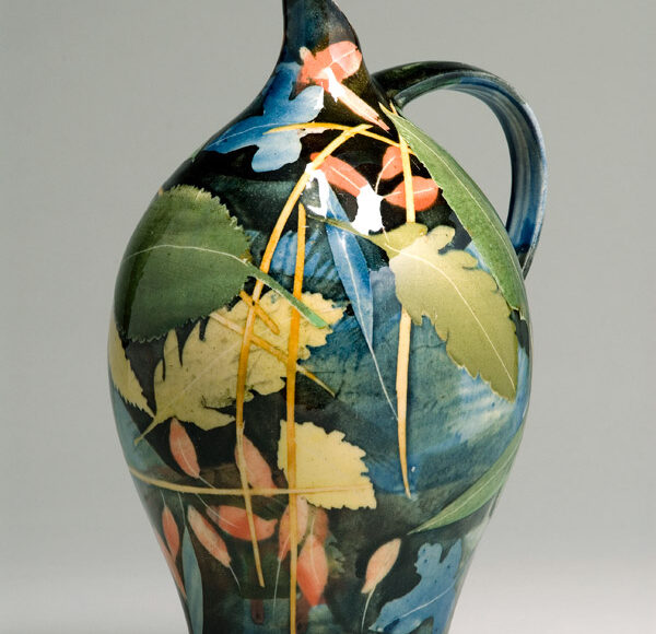 Large oil jar 21cm leaves & stalks £150