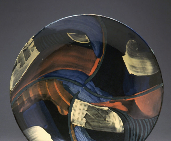 Very large shallow bowl 52cm Landscape 1992
