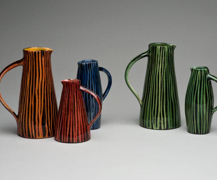 Small stripy jugs £45 - £80