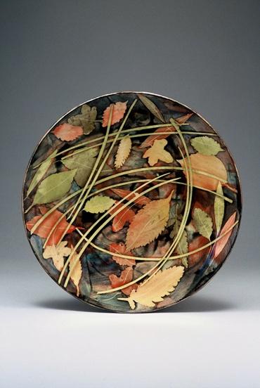 Plate 28cm leaves & stalks £140