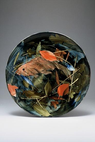 Large shallow bowl 43 x 9cm Fish pond £450