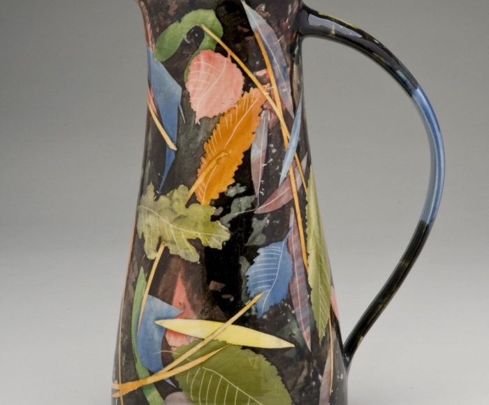 Very tall jug 30cm leaves & stalks £350