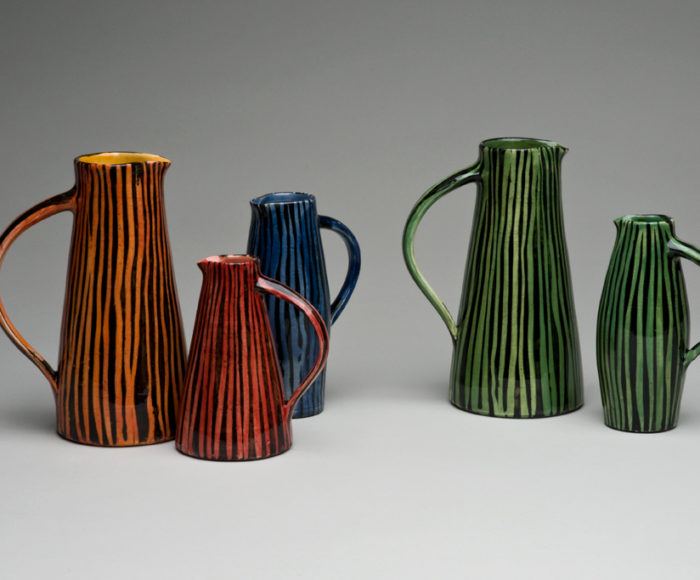 Small stripy jugs £45 - £80